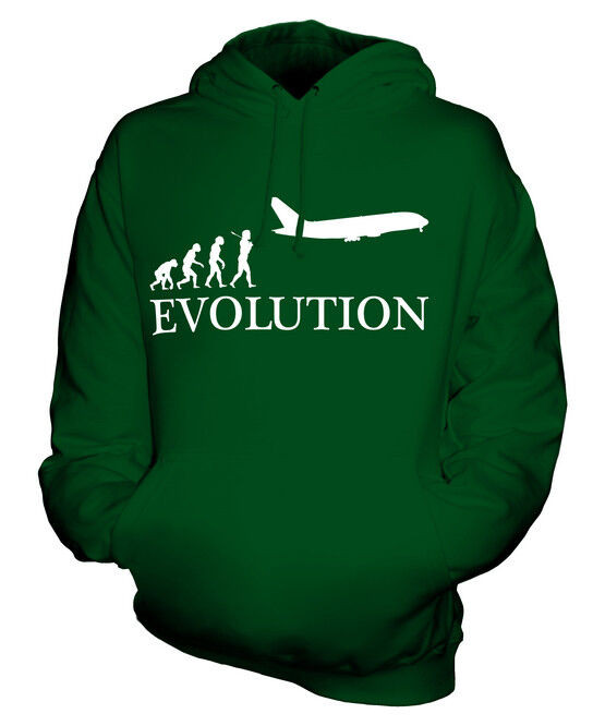 AIRPLANE EVOLUTION OF MAN UNISEX HOODIE TOP GIFT MILITARY NAVY