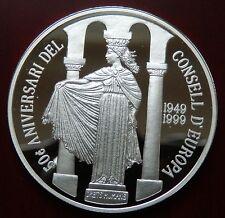"Andorra: 10 Diners ""50 J. Europarat(2)"" 1999 - PP/Ag. !!"