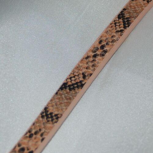 104cm schlangenimitation 10*3mm piel sintética Cord imitación banda a partir de 1,82 €//m