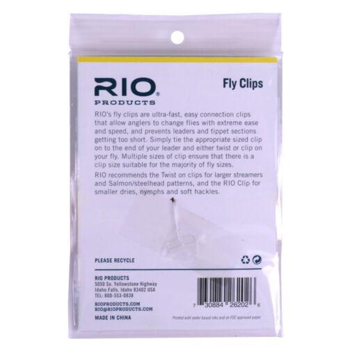 Rio Fly Clips 10-Pack-Toutes Tailles-livraison gratuite Options