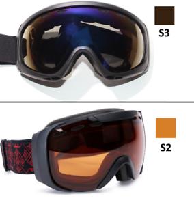 Zweier-Set-SKIBRILLE-S3-Sonne-S2-Wolken-Optik-Herren-Damen-yx46-3673-F2