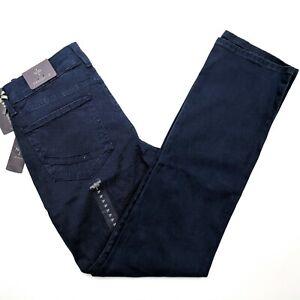 NYDJ-Hayley-Stretch-Twill-Straight-Leg-Jeans-Oxford-Blue-Womens-Size-2P-Petite