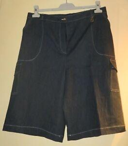 meilleure qualité nouvelle collection grande remise Détails sur Bermuda Femme couleur bleu foncé taille 48 Suspens « A »