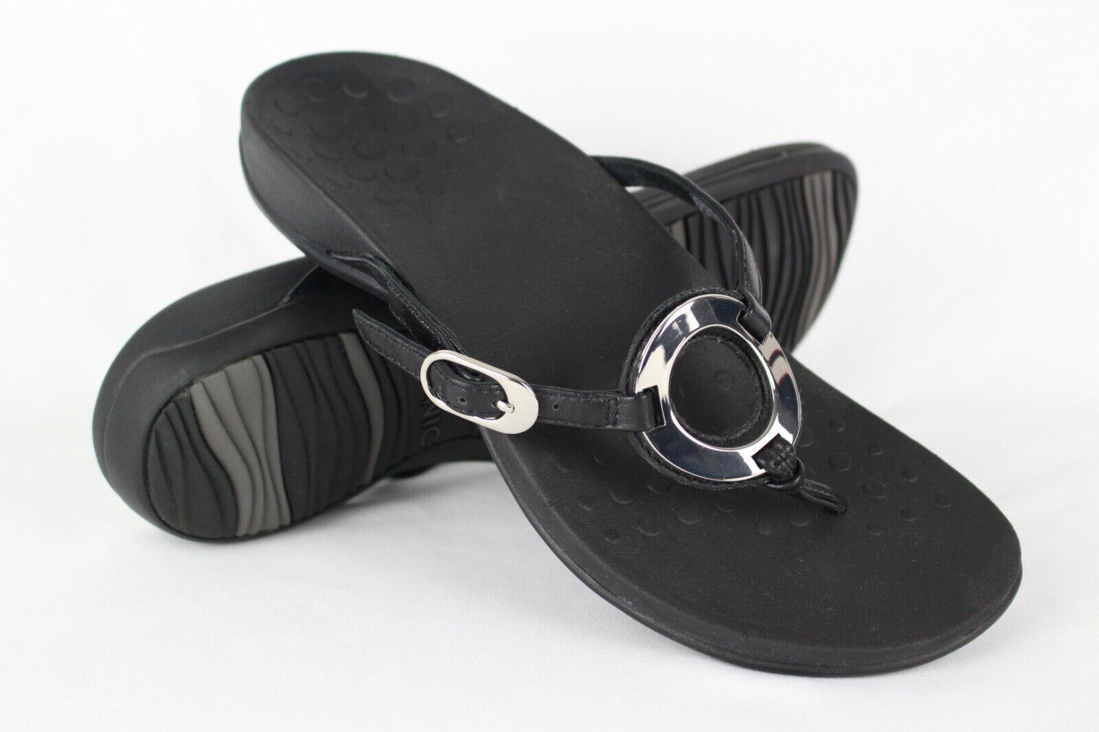 New Vionic Orthaheel Donna  Rest Karina Thong Sandals Dimensione Dimensione Dimensione 7m nero e0cf47