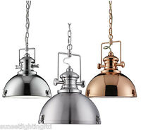 Searchlight Industrial 1 Light Vintage Metal Ceiling Pendant With Diffuser 2297