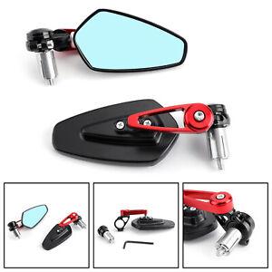 7-8-034-22mm-Coppia-Specchietti-Retrovisori-Specchi-Moto-Regolabile-Scooter-Rosso