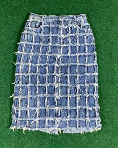 Patchwork Skirt Vintage Fiorucci Denim Pencil Skir