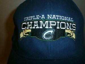 100% Vrai Columbus Coupe-ongles Triple-a National Champions Chapeau Minor Ligue Casquette