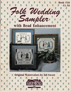 Folk-Wedding-Sampler-with-Bead-Enhancement-Cross-Stitch-Krazy-Stitches-30