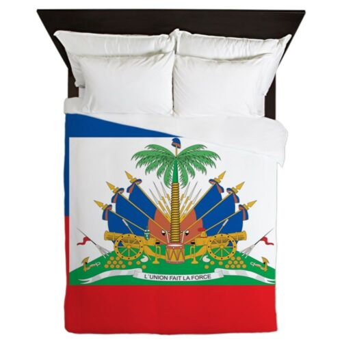 Haiti Flag CafePress Queen Duvet
