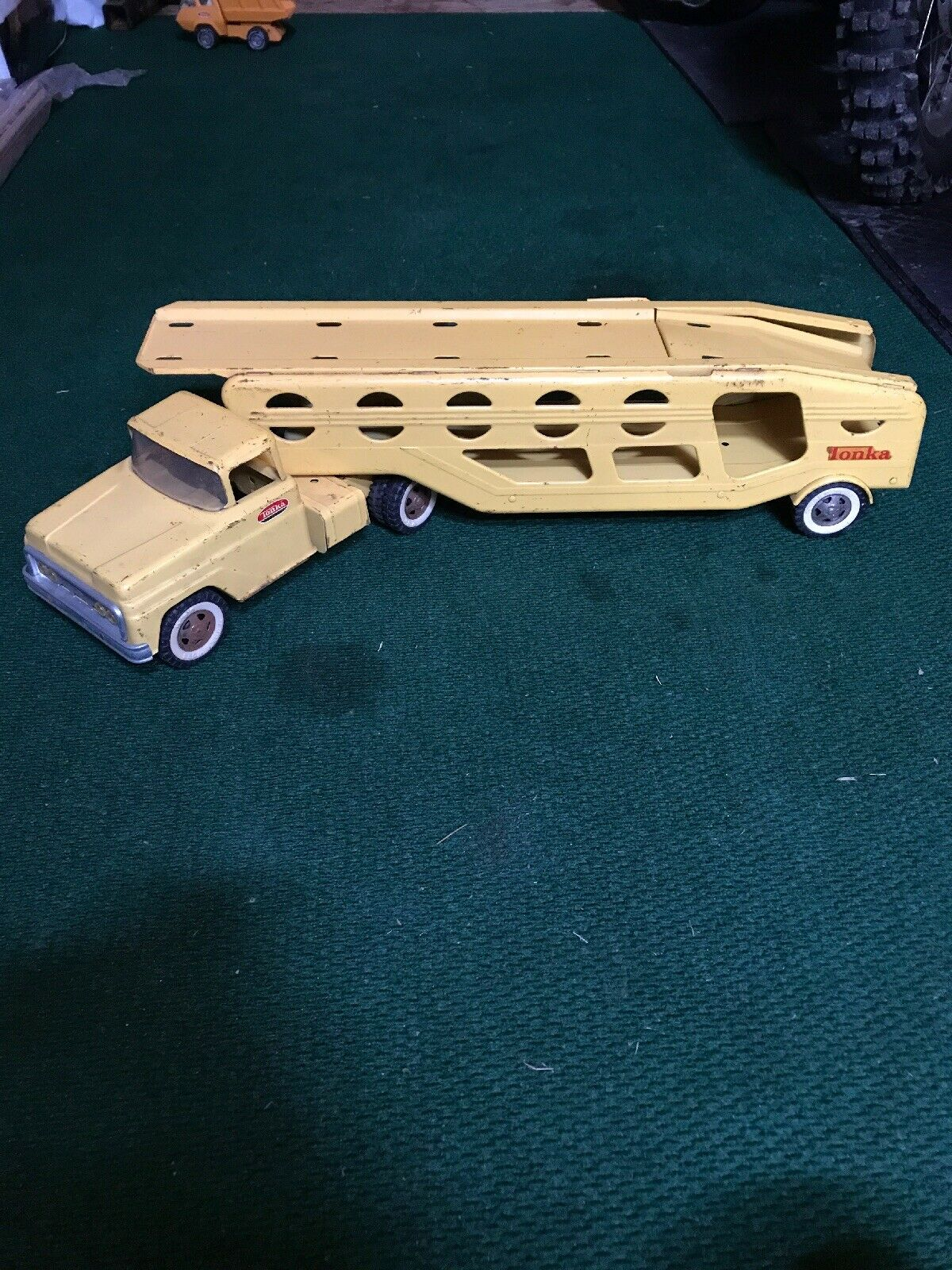 Vintage 1960's Tonka Car Carrier Pressed Steel Beauty Made In In In U.S.A. de0eb4