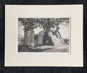 """Luigi Lucioni signed etching """"The Big Haystack"""""""