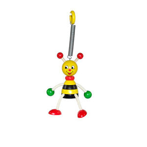 """# Suitable For Men And Women Of All Ages In All Seasons Steady Hess 14703 Swinging Figure """" Bee """" With Spring From Erzgebirge Wood New Action Figures"""