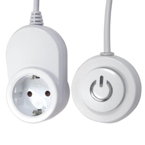 GAO Komfortschalter 1,8 m Steckdose Fuß Schalter LED Kabel Fernbedienung