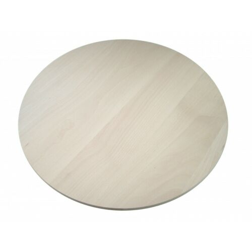 Raw Round circular wooden chopping board cutting serving pizza wood 20 inches