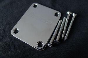 Genuine-Ibanez-Guitar-Neck-Plate-With-Screws-Chrome