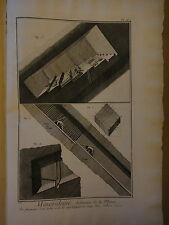 1775-DIDEROT e D'ALEMBERT-MINERALOGIE-ARDOISIERE DE LA MEUSE-MINIERE-5 tavole