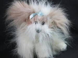 Animal Alley 12 Plush Shih Tzu Maltese Ivory Tan Puppy Dog