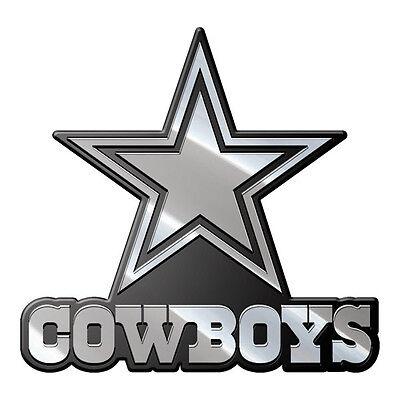 Dallas Cowboys Heavy-Duty Metal Auto Emblem [NEW] NFL Chrome Car Decal CDG
