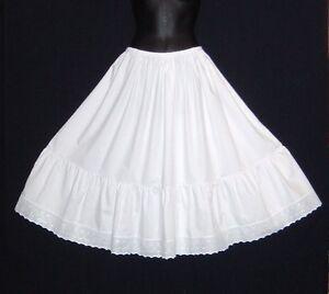 Vintage-Style-Crisp-Cotton-Edwardian-petticoat-for-30-039-s-40-039-s-style-Tea-dresses