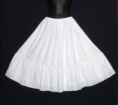 "Crisp Cotton Petticoat Prices From £19.99, Lengths 23""-40"" Knee To Floor Length"