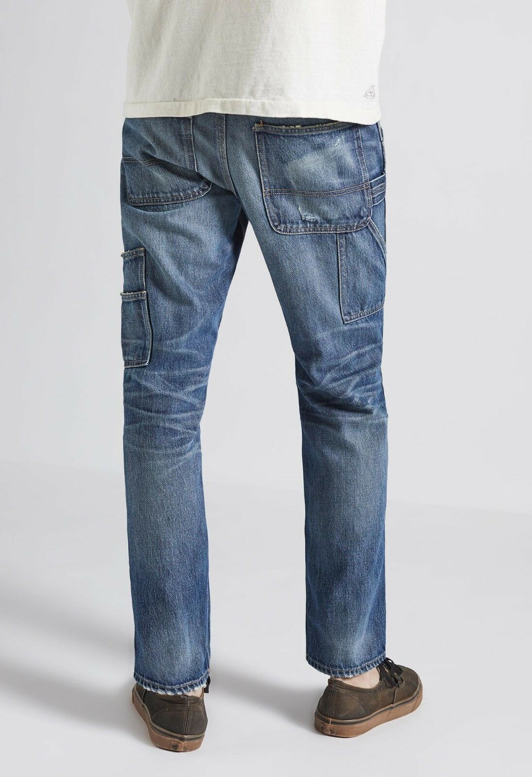 Current Elliott Jeans Carpenter Relaxed Distressed Straight Jean 36 X 28