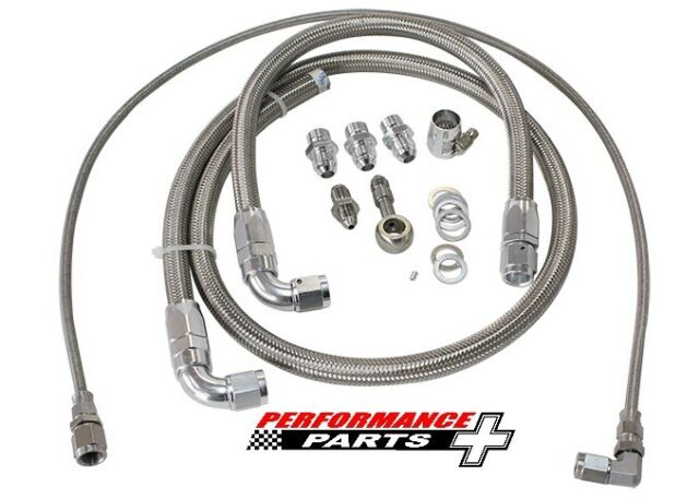 Turbo Oil & Water Feed Line Kit Suit Nissan SR20 S13 AF30-1001 Aeroflow