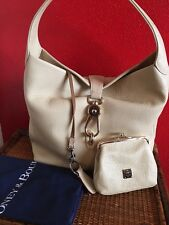 Dooney & Bourke Leather Hobo with Logo Lock and Accessories Bone