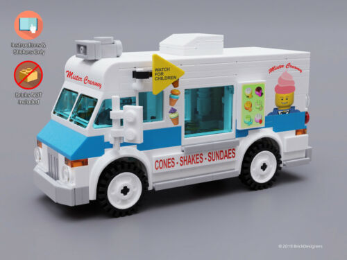 STICKERS ONLY Custom Lego Ice Cream Truck INSTRUCTIONS