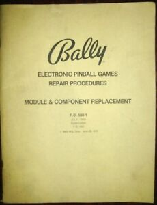 Bally-Electronic-Pinball-Games-Repair-Procedures-Module-amp-Component-Replacement