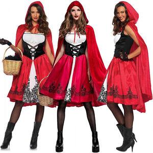 hot erwachsene rot umhang rotk ppchen kost m damen halloween kost m ebay. Black Bedroom Furniture Sets. Home Design Ideas