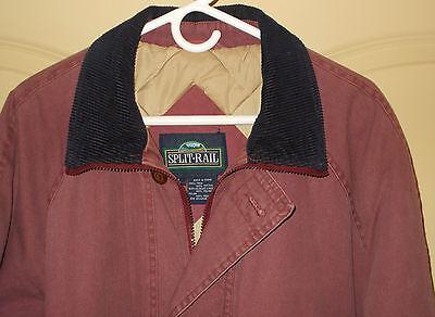 Barn Coat Field Jacket LARGE Split Rail Mens Insulated Plum Chore Work 5B1
