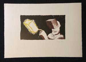 Dirk Larsen, Blind Man's vision, farblithographie, 1986, a mano firmato U. datato