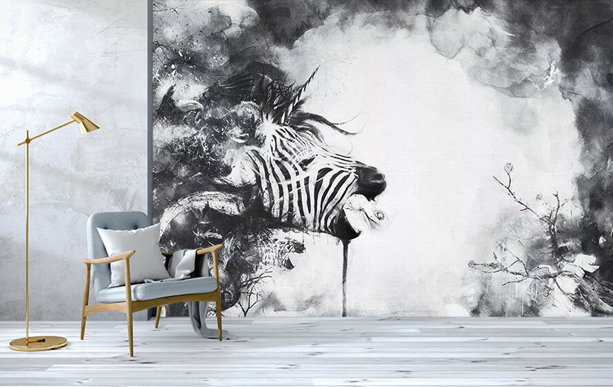 3D Animal Zebra 822 Wall Paper Exclusive MXY Wallpaper Mural Decal Indoor Wall