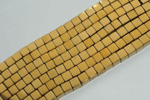 3 Mm Hématite Cube Strang sélecteur de couleurs