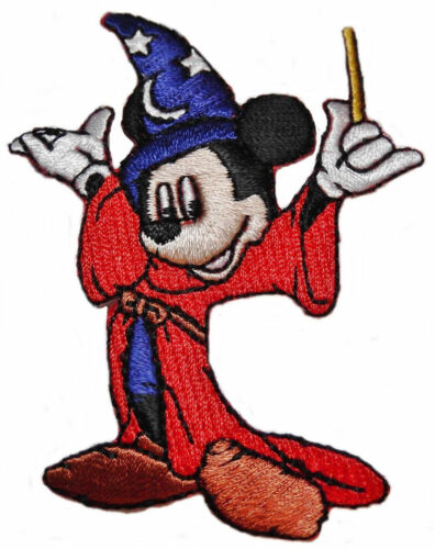 """Disney/'s Mickey Mouse Fantasia Wizard Character 3/"""" Tall Embroidered Patch"""