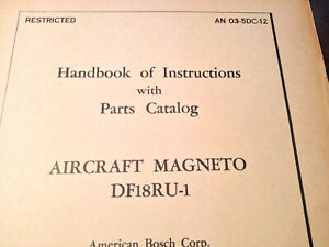 Bosch DF18RU-1 Magneto Service & Parts Manual