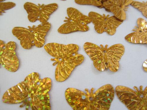 50 Applikation Aufnäher Gold Glanz Pailletten elegante Muster Borte Nähen 2,2cm