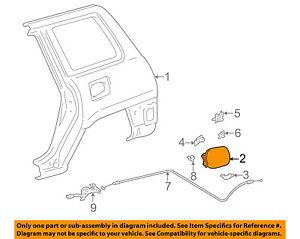 Image is loading TOYOTA-OEM-96-00-RAV4-Fuel-Door-Gas-