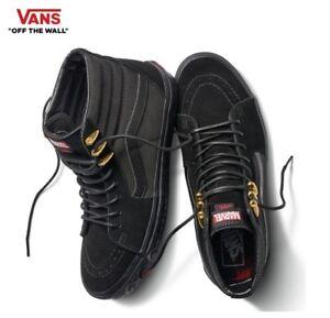 624599c849f6c0 VANS X MARVEL Sk8-Hi Black Panther Black   Gold Skate Shoes