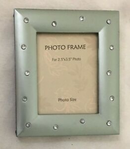 Gray Rhinestone 35x425 Rectangle Picture Frame Holds 25x35