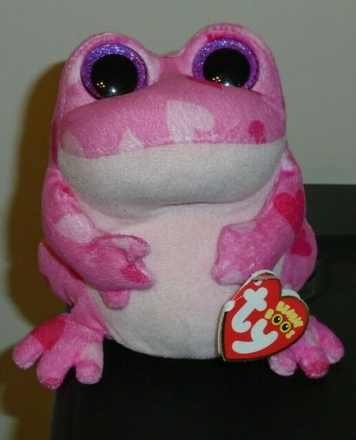 Ty Beanie Boos 6 Plush Smitten The Pink Hearts Frog Valentines For