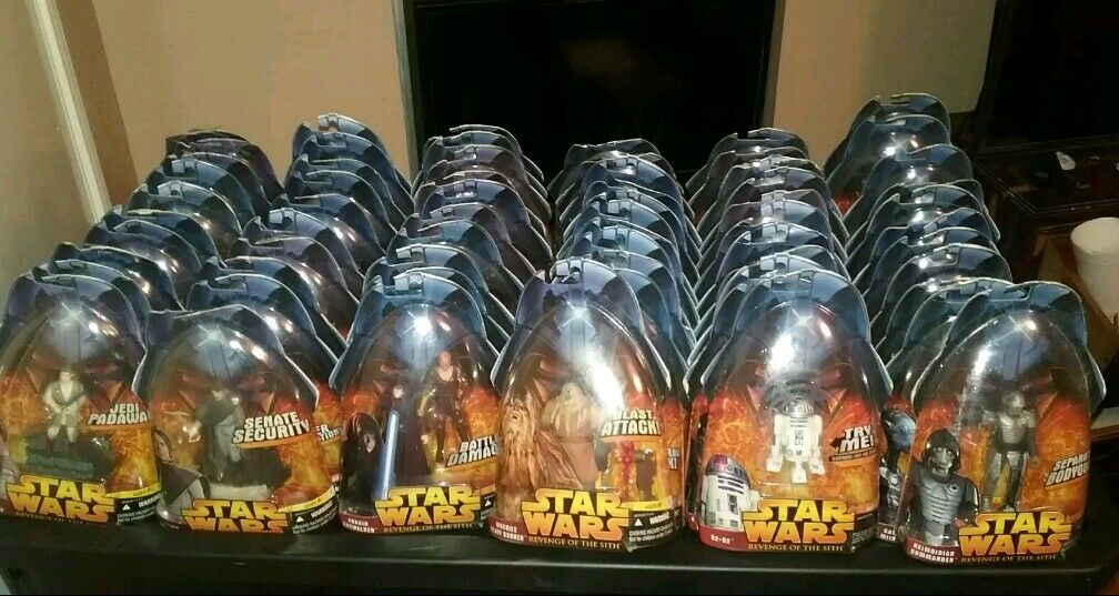 Star wars revenge of the sith action 78 figures lot 2005 reds collection HASBRO