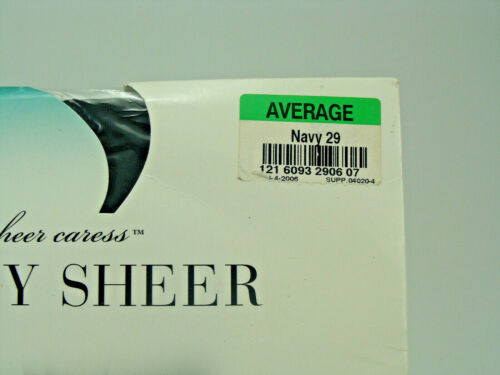Choice:JCPenny Sheer Caress Silky Sheer Pantyhose Sz Average Queen F4