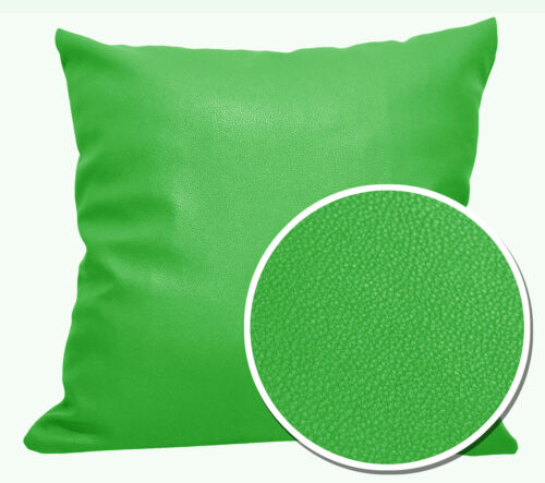 pb312r Lime Green Round Faux Leather Soft Thick Mattresses Cushion Cover Custom