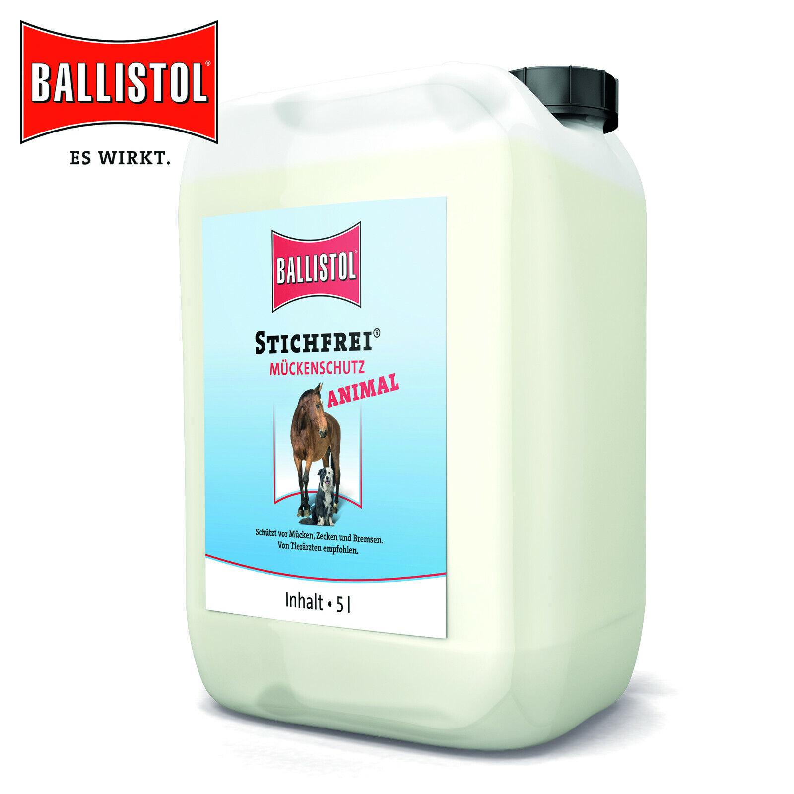 Ballistol 5 Liter Animal Stichfrei® Mückenschutz gegen Mücken, Zecken, Bremsen