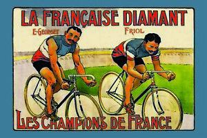 Champions-de-la-France-Velo-Panneau-Metallique-Plaque-en-Etain-20-X-30-cm-CC0882