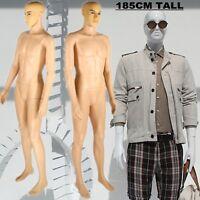 Male Kind Full Body Plastic Mannequin Tailor Shop Window Display Dressmaker Us