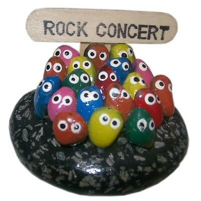 Novelty Pebble People Ornament Rock Concert Quirky Gift
