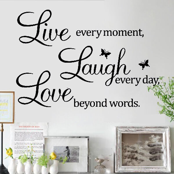 LIVE LAUGH LOVE Wall Quote Stickers Removable Vinyl Decal Home Art Decoration